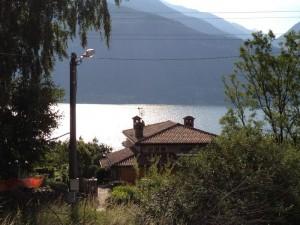 Immobilien Comer See Cremia mit Garten und seeblick