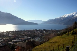 Immobilien Comer See Vercana Bauland mit Seeblick sonnig