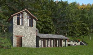 Immobilien Comer See Pianello Lario Renoviert Rustico Seeblick