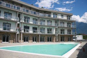 Immobilien Comer See Domaso Residenz mit Schwimmbadund Solarium