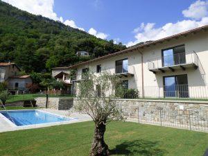 Immobilien Comer See Ossuccio Residenz mit Schwimmbad und Seeblick