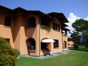 Immobilien Comer See Wohnung Menaggio mit Garten und Seeblick - Garten