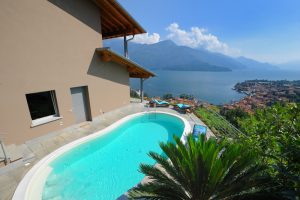 Immobilien Comer See Gravedona ed Uniti Villa mit Seeblick und schwimmbad