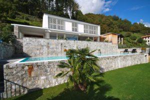 Immobilien Comer See Cremia Luxus Villa mit Schwimmbad und Seeblick