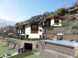 ImmobilienComer See Domaso WohnungResidenz Mit Schwimmbad und Terrasse