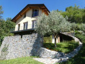 Immobilien Comer See Gera Lario Villa mit Seeblick und garten