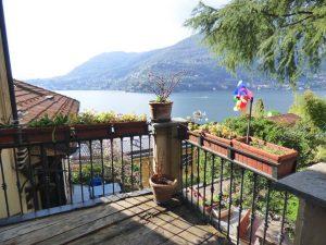 Immobilien Comer See Blevio Wohnung mit Seeblick - Terrasse