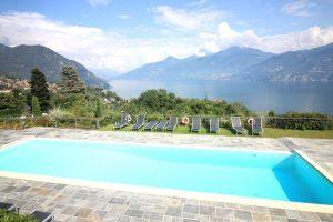 Immobilien Comer See Menaggio Wohnung mit Seeblick und Pool