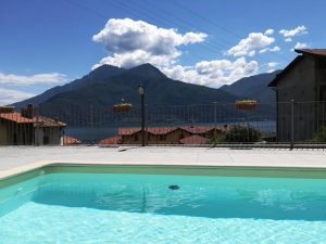 Immobilien Comer See Musso Wohnung Residenz mit Schwimmbad
