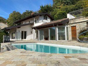 Immobilien Comer See Gravedona ed Uniti Villa mit Seeblick