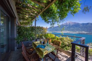 Immobilien Comer See Domaso Hügelig Wohnung mit Seeblick